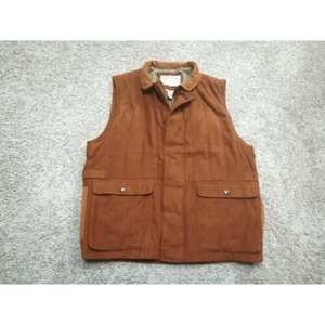 Orvis Hunting Faux Suede Leather Vest Mens Large